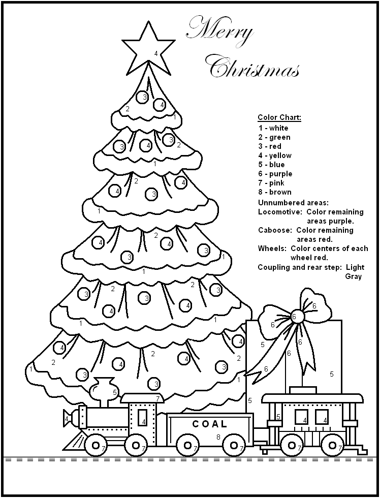 FREE Printable Christmas Color by Number Pages - Merry Games | Color ...