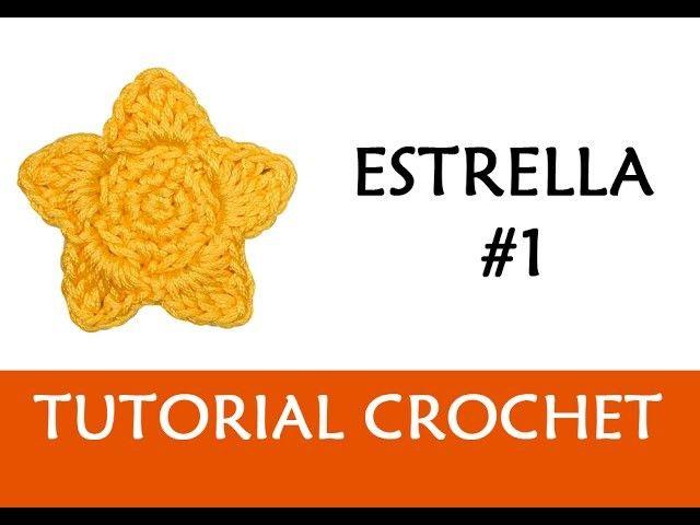 PATRÓN CROCHET: ESTRELLA #1 | Patrones, Patron crochet and Crochet