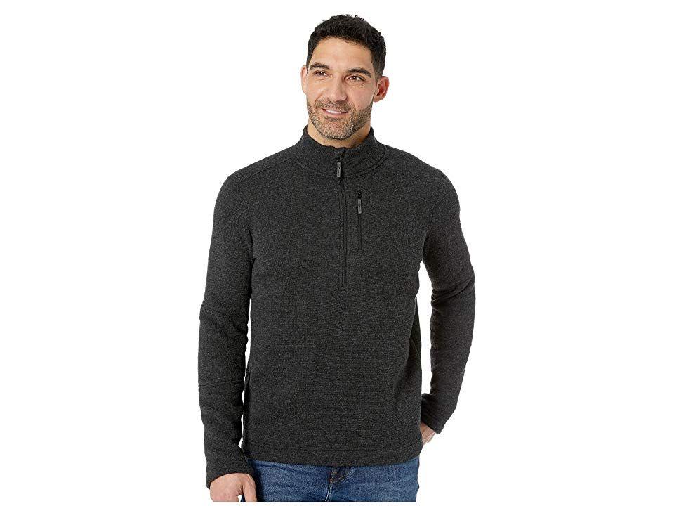 ace3bfddd Smartwool Hudson Trail Fleece 1/2 Zip Sweater (Dark Charcoal) Men's ...