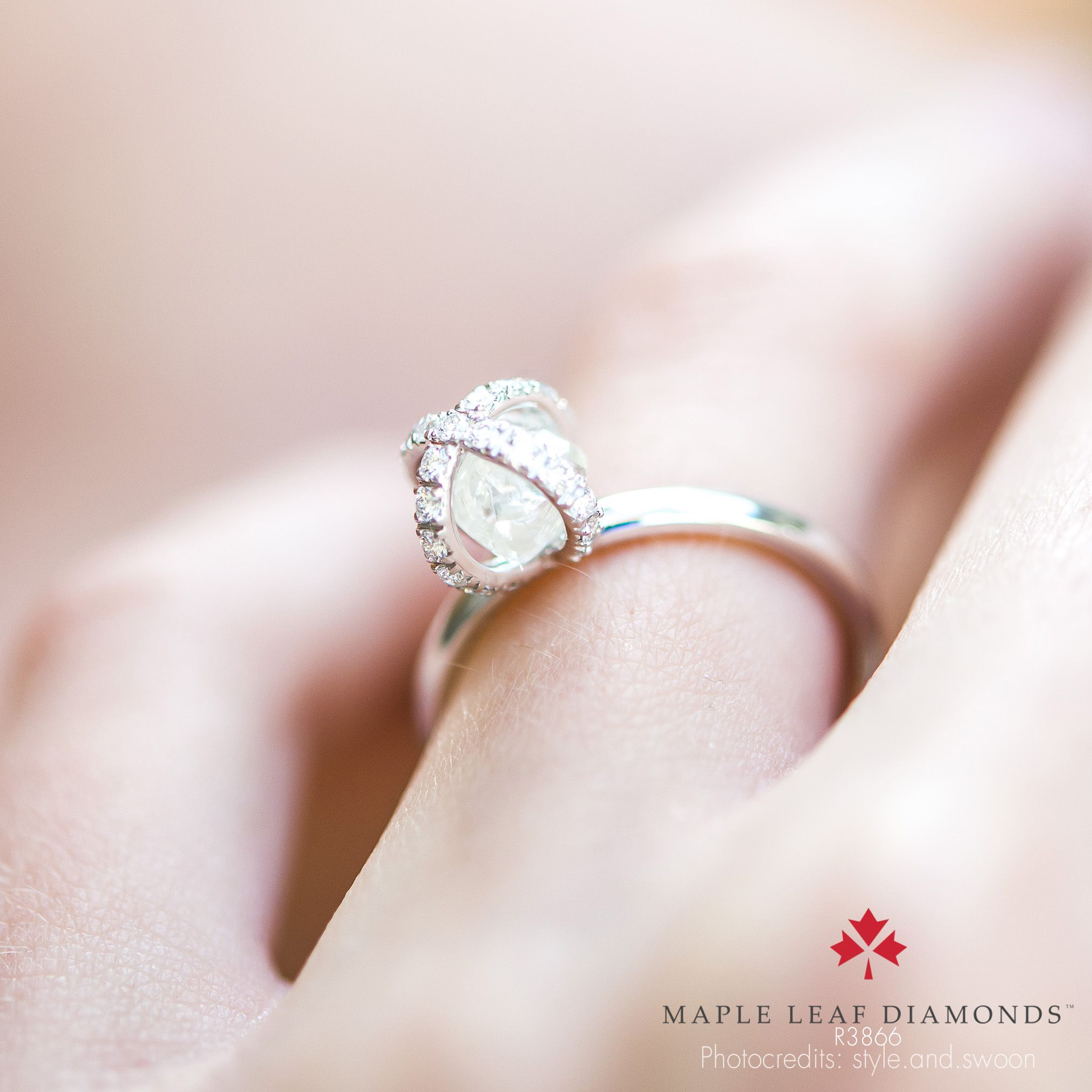 Rough Canadian Diamond Engagement Ring Canadian diamond