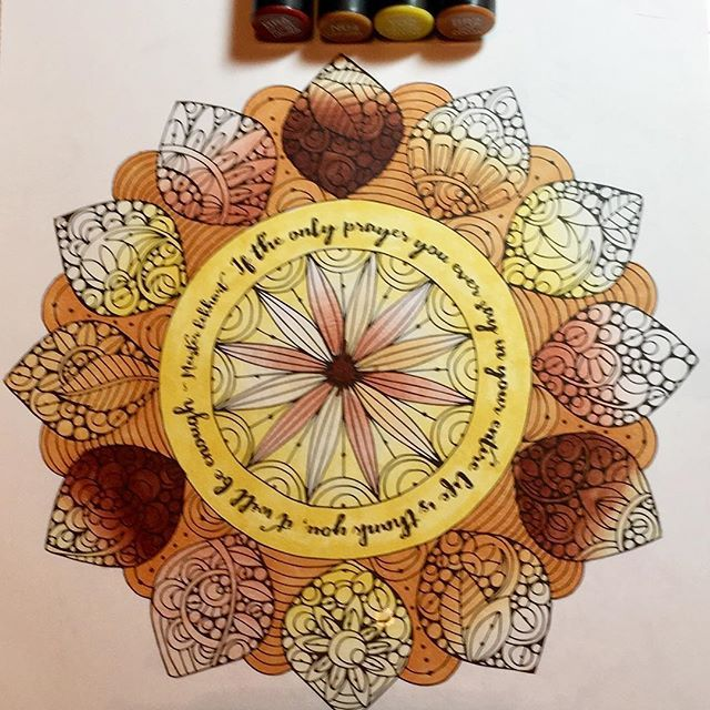 Gorgeous mandala by @candy_westphal using their Chameleon Pens! #mandala #drawing #art #artwork #colour #color #colouring #coloring #pen #marker #alcoholmarkers #chameleonpens
