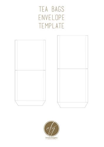 Free Printable Tea Bag Envelopes in 2018 | Labels + Packaging ...