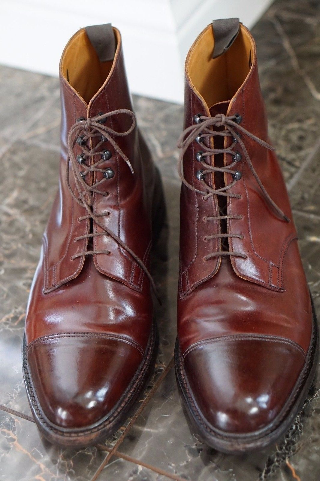 68f26ce52cc Crockett   jones peal   co shell cordovan captoe boot burgundy 13 d ...