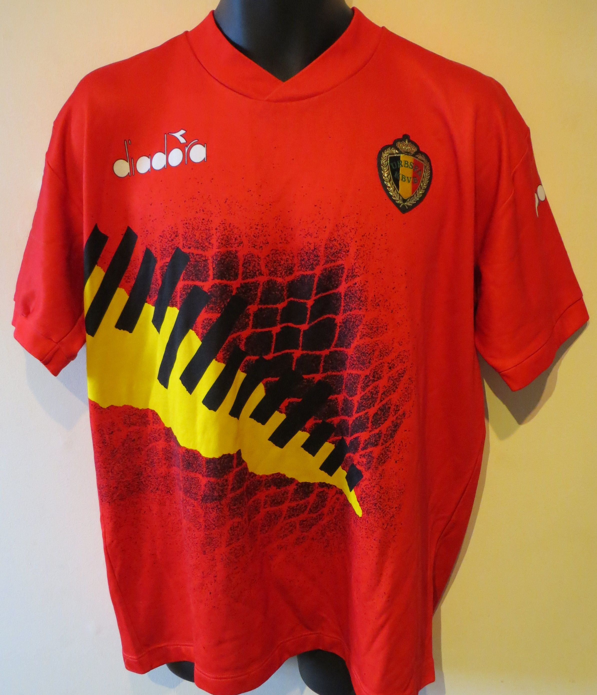 5520d935467e 90s Belgium shirt by Diadora. 90s Belgium shirt by Diadora Retro Football  Shirts ...
