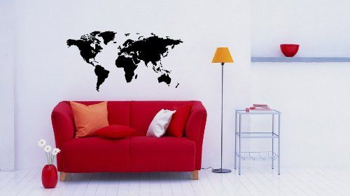 World Map Wall Vinyl Decal Art Sticker Home Modern Stylish Interior Decor for Any Room Smooth and Flat Surfaces Housewares Murals Graphic Bedroom Living Room (237) stickergraphics http://www.amazon.com/dp/B00IEFUI7S/ref=cm_sw_r_pi_dp_z8MTtb0091NHMGJM