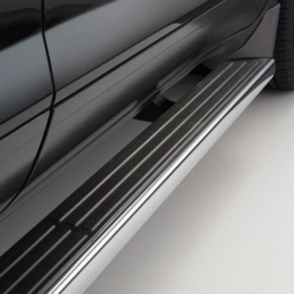 2015 Acadia Assist Steps 6 Inch Oval Chrome W Black Step Pad Chevrolet Accessories Chrome Enclave
