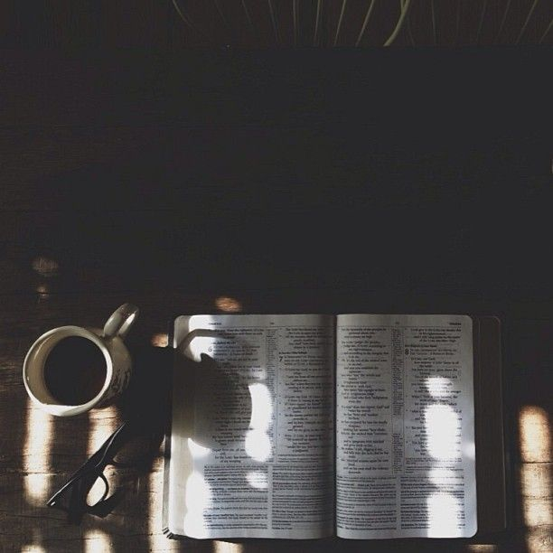bible reading & a hot cup of coffee. My favorite thing in all the world…