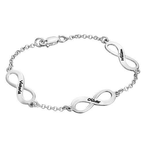 Multiple Infinity Bracelet In Sterling Silver Infinity Bracelet Jewelry Bracelets Silver Silver Charm Bracelet