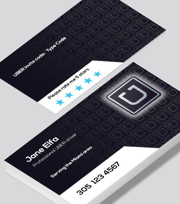 Uber Business Card This One Has The Classic Logo Which I Personally Like Better Uber Business Cool Business Cards Freelance Business Card
