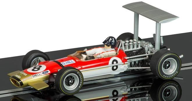 Lotus Type 49 GRaham Hill  British G.P. 1968 by Scalextric Hornby