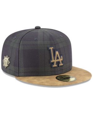 best sneakers 4bafe 07fae New Era Los Angeles Dodgers Plaid 59FIFTY Fitted Cap - Blue 7 1 4