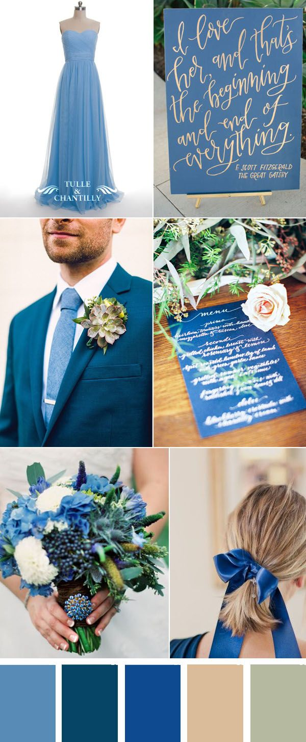 Periwinkle Blue Country Wedding Color Ideas