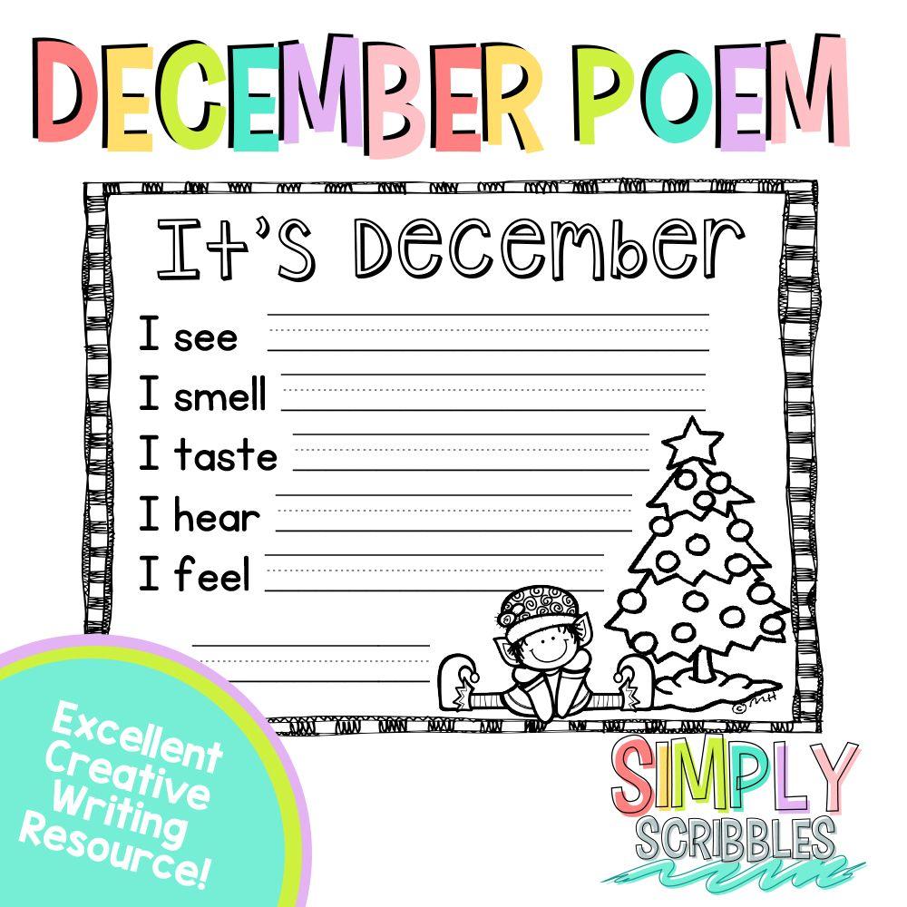 small resolution of December sensory poem