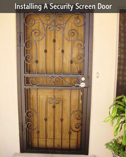 Installing A Metal Security Screen Door Diy Alternative Energy Security Screen Door Metal Screen Doors Door Design Photos