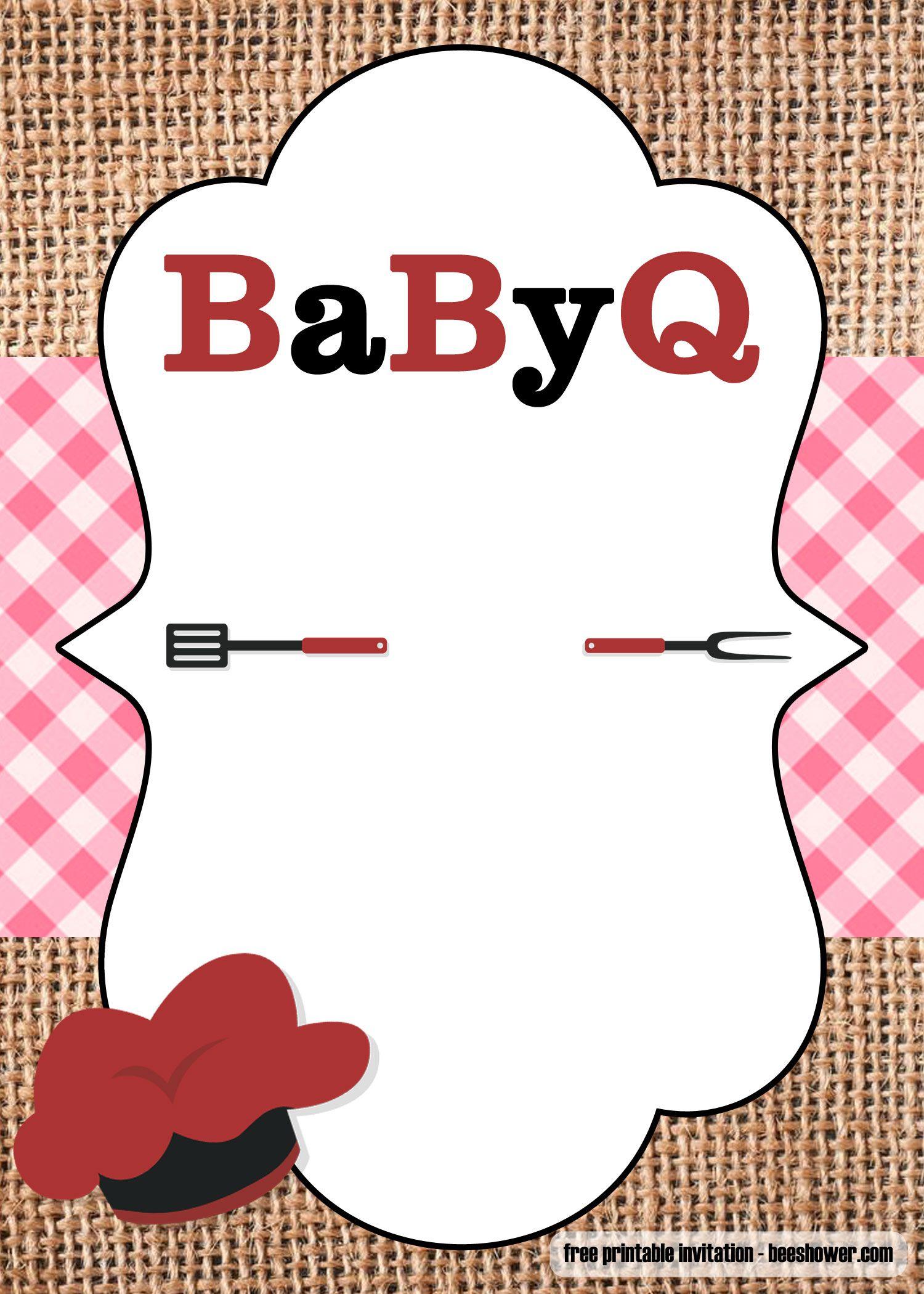 Free Printable Bbq Baby Shower Invitations Templates Bbq Baby Shower Invitations Shower Invitations Free Baby Shower Invitation Templates