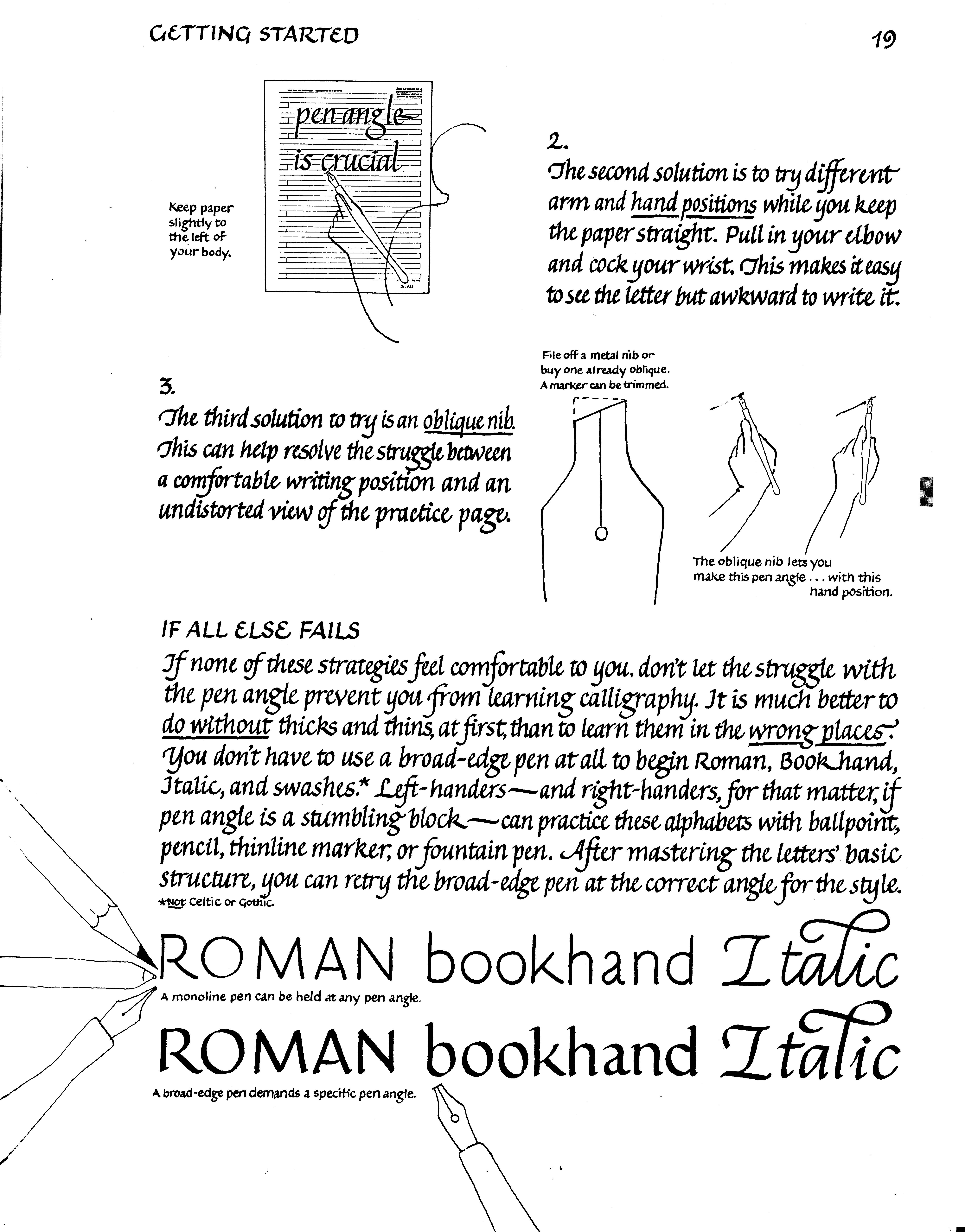 For Lefthanders From Learn Calligraphy By Margaret Shepherd