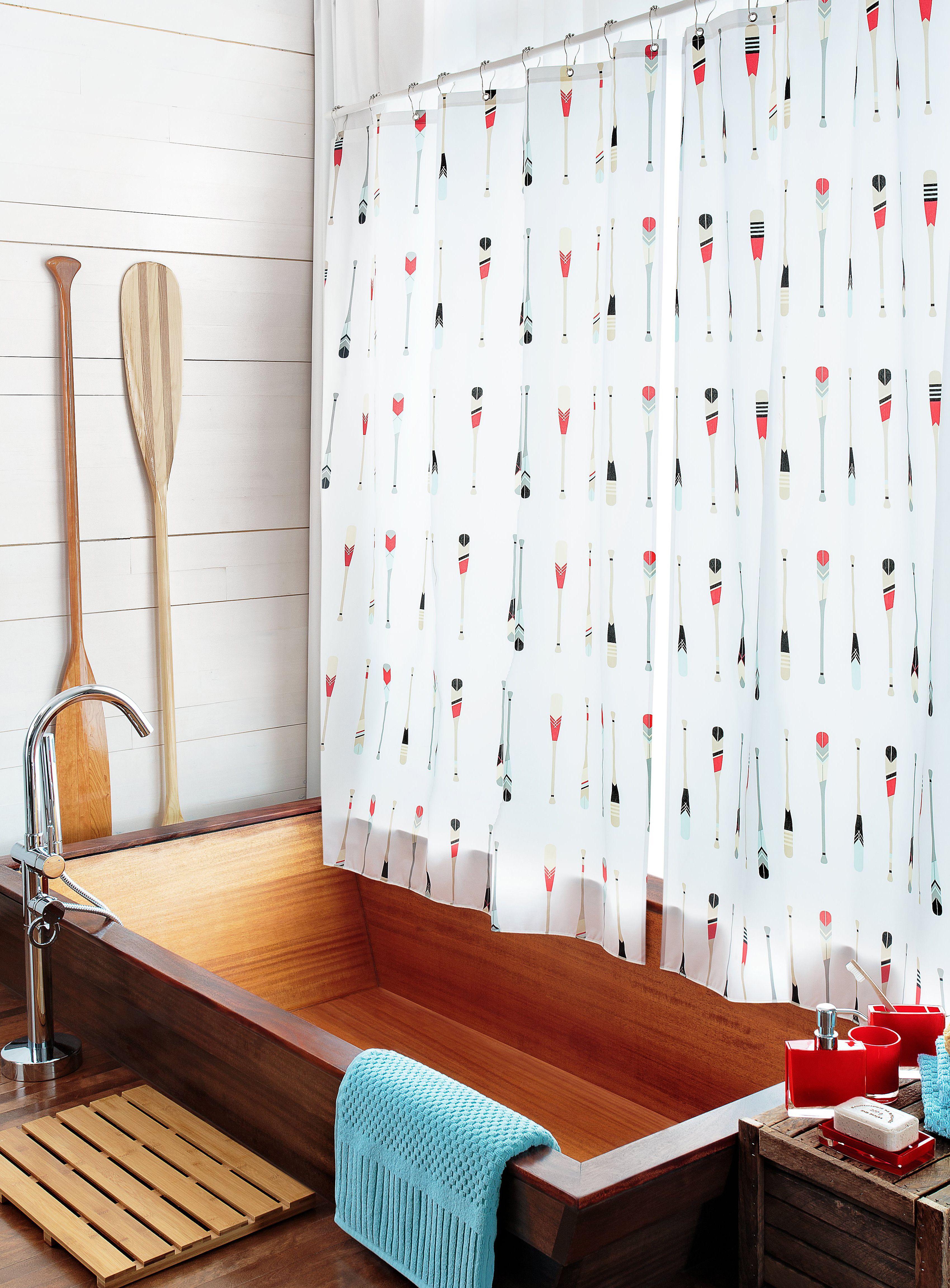 Bringing cottage country home   Simons Maison Paddle Shower Curtain   bath   home. Bringing cottage country home   Simons Maison Paddle Shower