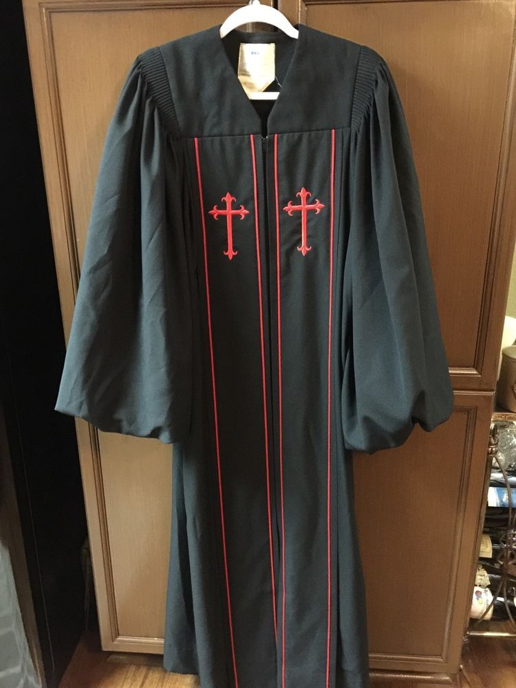 Murphy Robes Cap And Gown Company - Cleric Robe SS-15 Black With Red ...