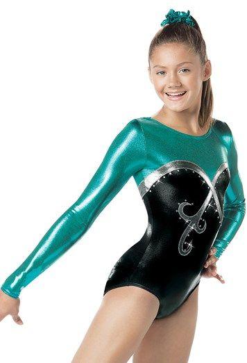 Long-Sleeve Swirl Gymnastics Leotard  be566d06f1a