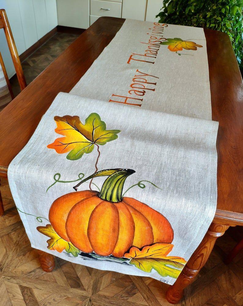 pumpkins Table Runner fall themed