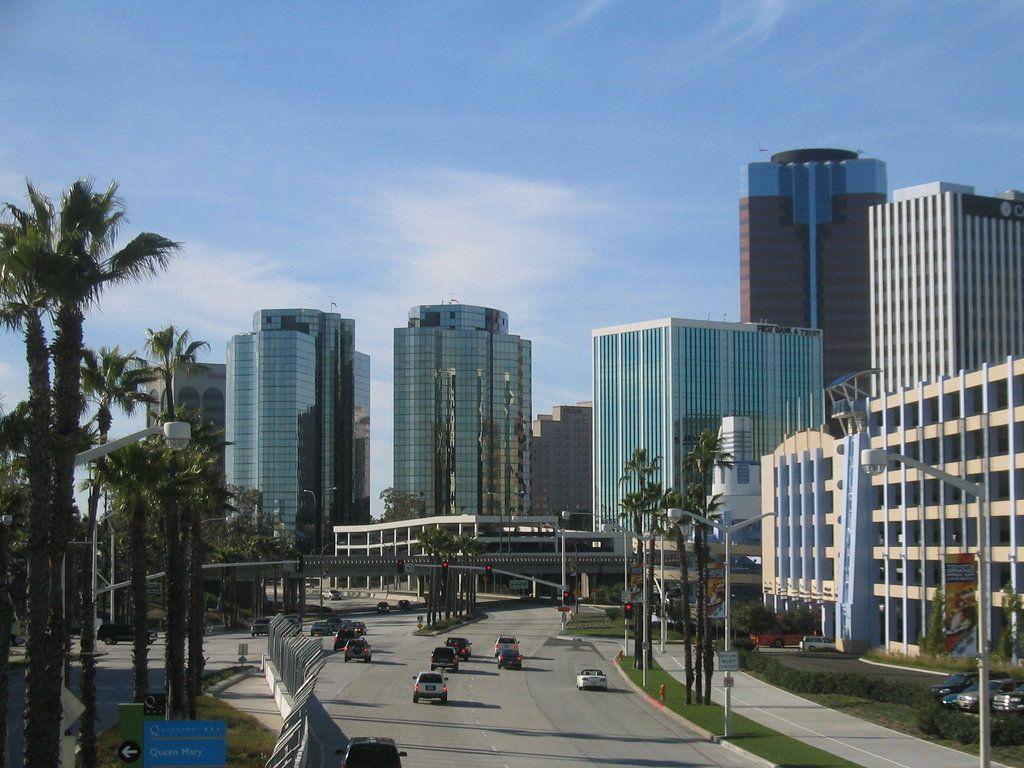 Long Beach Ca The New Skyline From Pike S Footbridge
