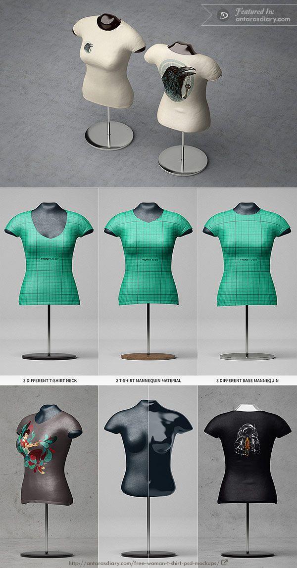 Female T Shirt Mannequin Mockup T Shirts For Women Women Mockup