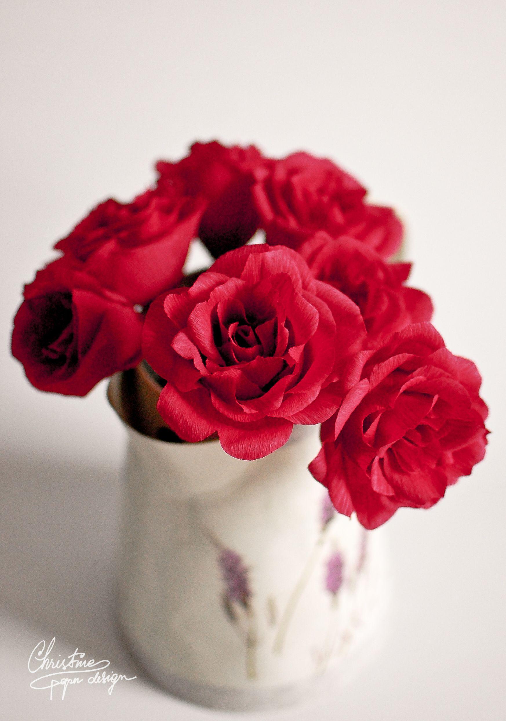 Diy Paper Flowers Red Roses Paper Flowers Pinterest Diy