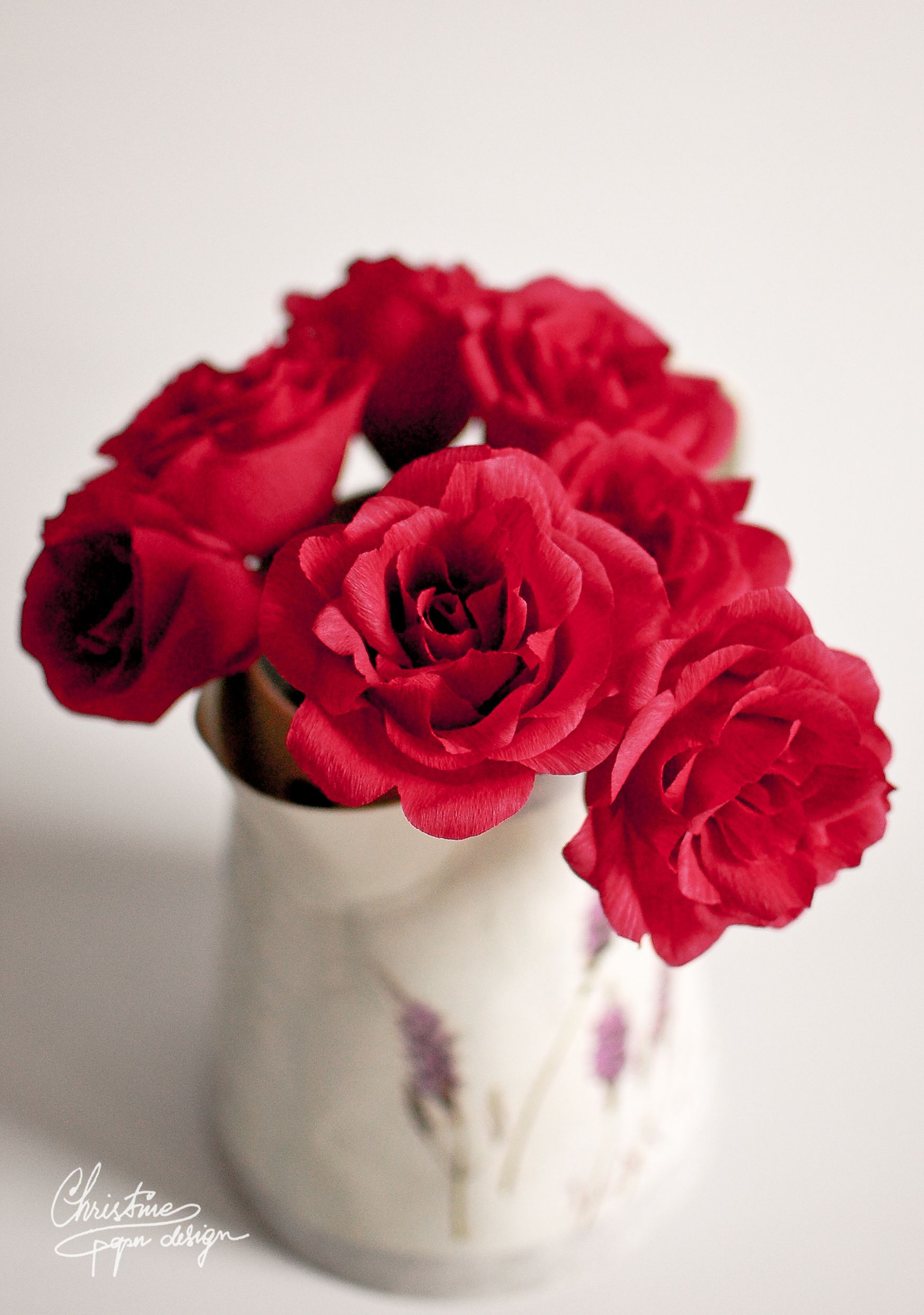 Diy Paper Flowers Red Roses Paper Flowers Pinterest Paper