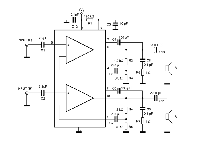 Tda2005 Stereo Amplifier Circuit Diagram Stereo Amplifier Amplifier Circuit Diagram