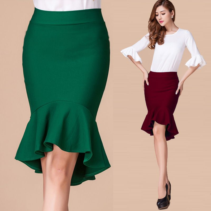 Skirts Directly From China Summer Hot Spring Las Long Ol Slim High Waist Office Skirt Woman Fishtail Womens Y Saia
