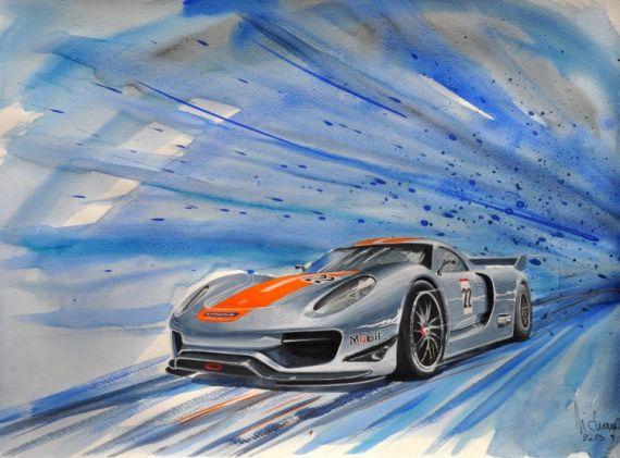 tableau peinture course voiture allemagne sport aquarelle porsche tableaux en 2019 car. Black Bedroom Furniture Sets. Home Design Ideas