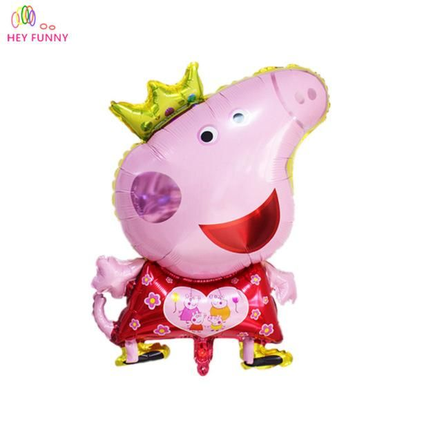 Peppa Pig Toy Childrens Air Foil Balloons Cartoon Pink Pig for