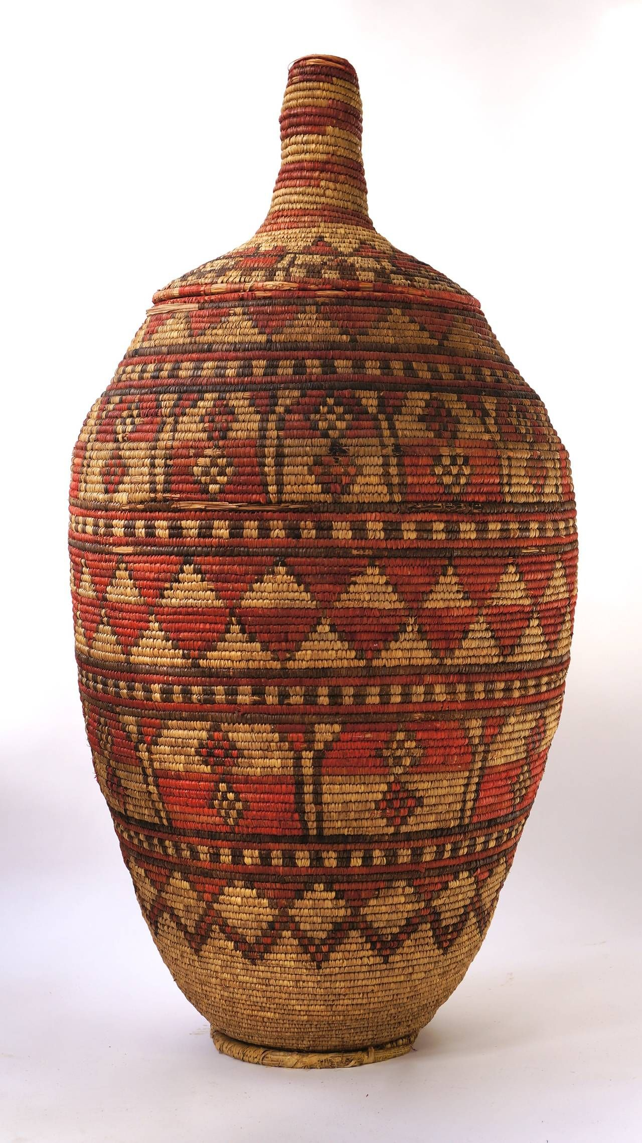 Impressive and Seldom Nigerian Large Basket Garment and Cover   From a unique collection of antique and modern bowls and baskets at https://www.1stdibs.com/furniture/decorative-objects/bowls-baskets/