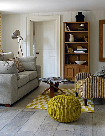 Graphic Kilim Rug MS House Pinterest Knitted pouffe Front