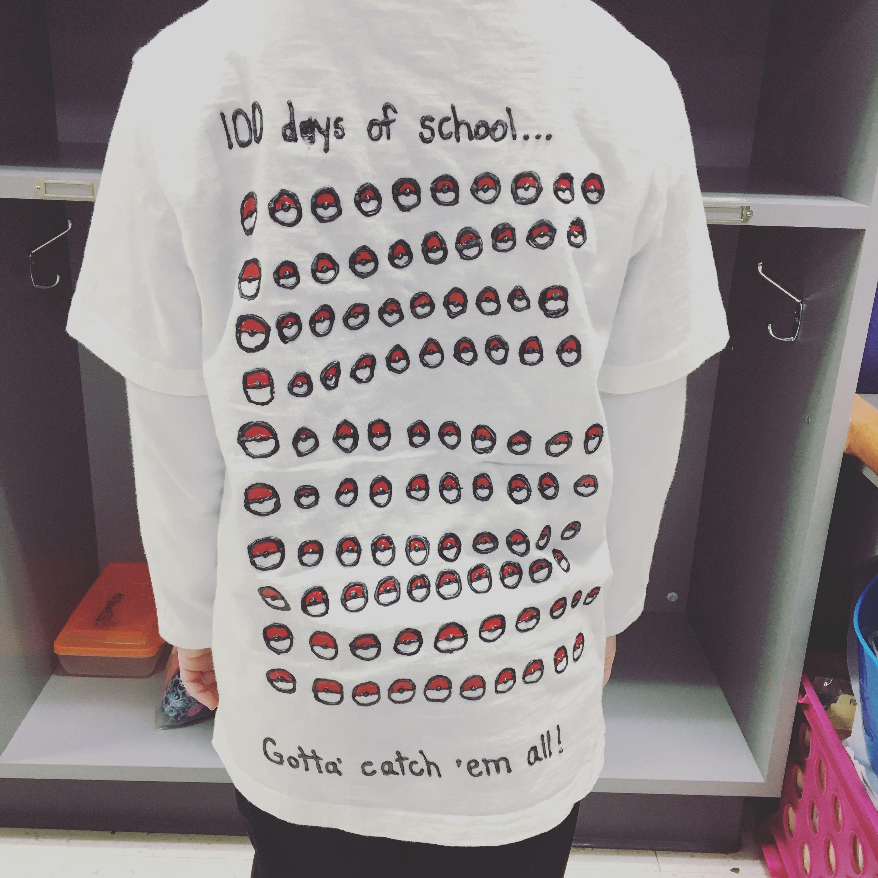 Pokemon 100 Days Of School Shirt 100 Days Of School Pokemon