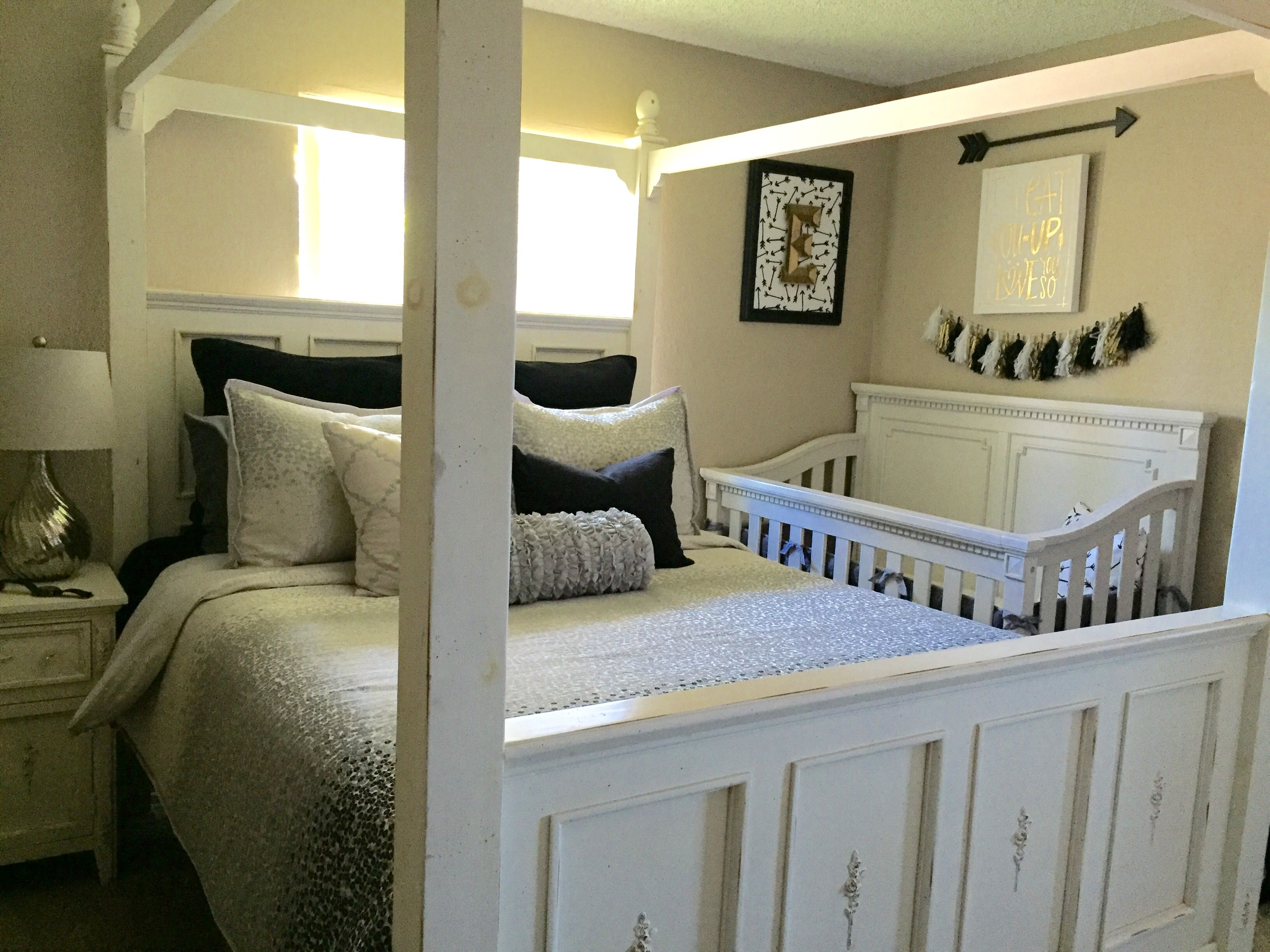 Baby Crib In Master Bedroom Apartment Living
