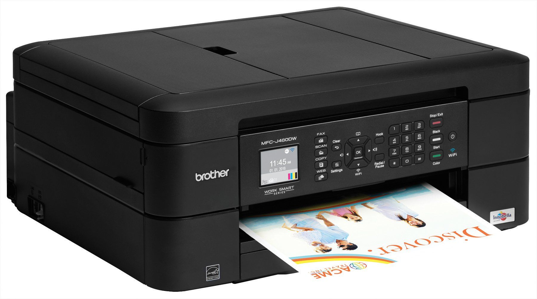 Brother Mfcj460dw Allinone Color Inkjet Printer Compact And Easy