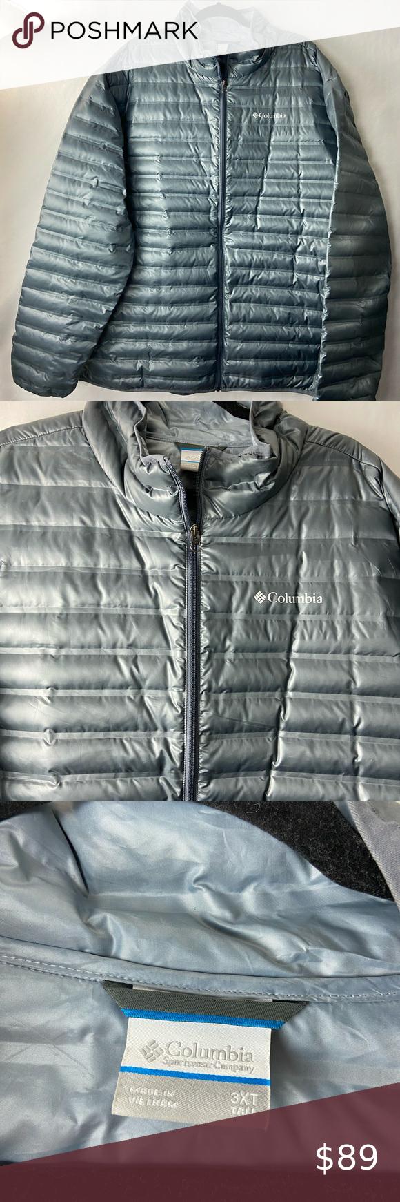 Columbia Down Jacket Flash Forward Gray 3xl Down Jacket Down Puffer Coat Jackets [ 1740 x 580 Pixel ]
