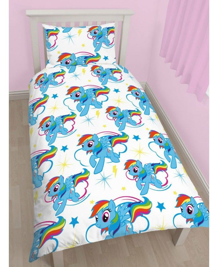My Little Pony Rainbow Dash Single Duvet Cover and Pillowcase Set ...