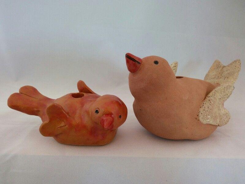 Pottery Birds - part of Totem - by Probst Pottery