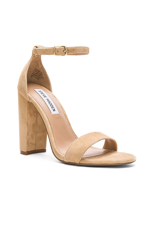 b3672b073d1 Steve Madden Carrson Heel in Sand Suede | Shoes! | Steve madden ...