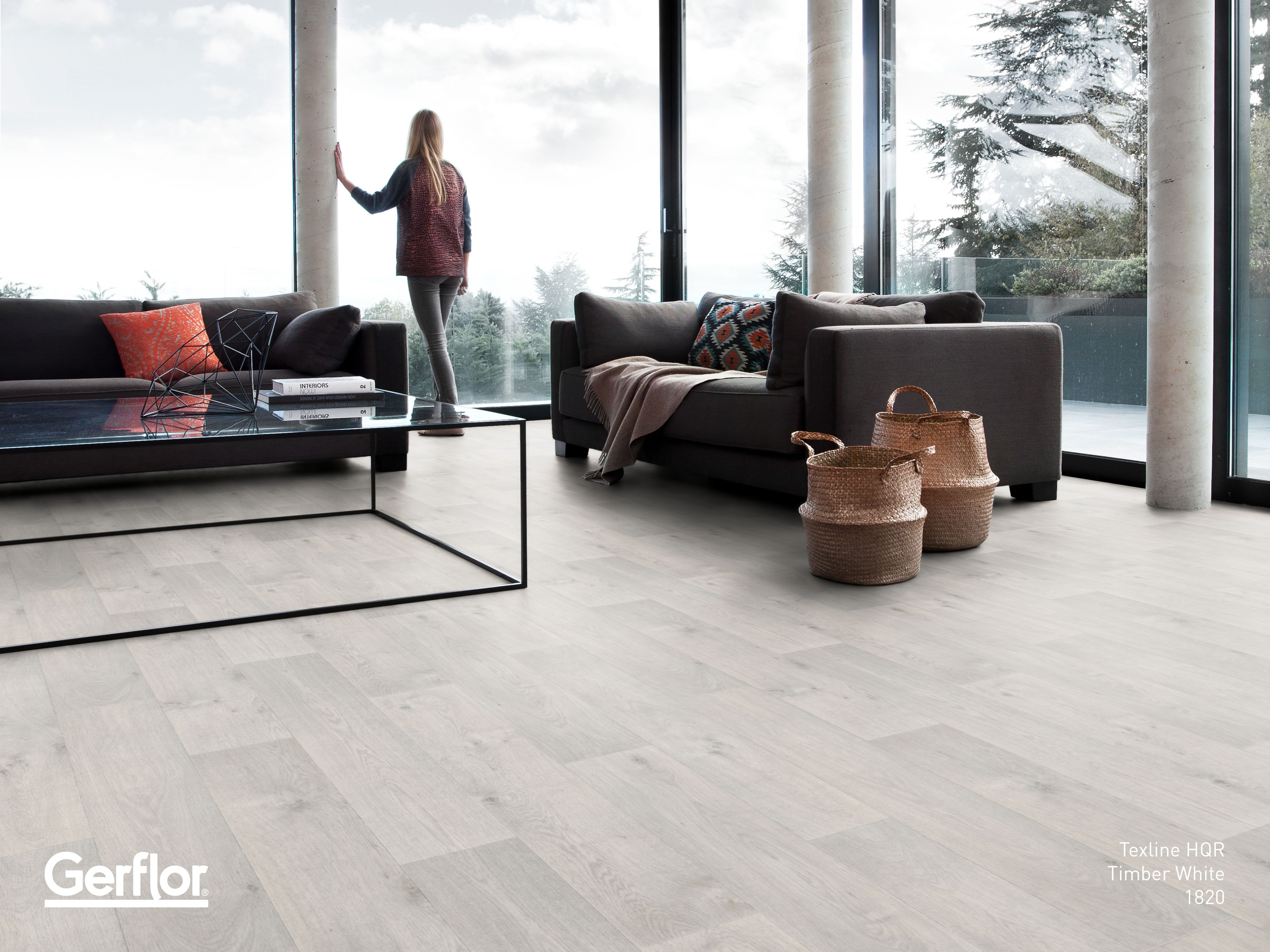 Gerflor\'s new range of Texline HQR features graphic lines and strong ...