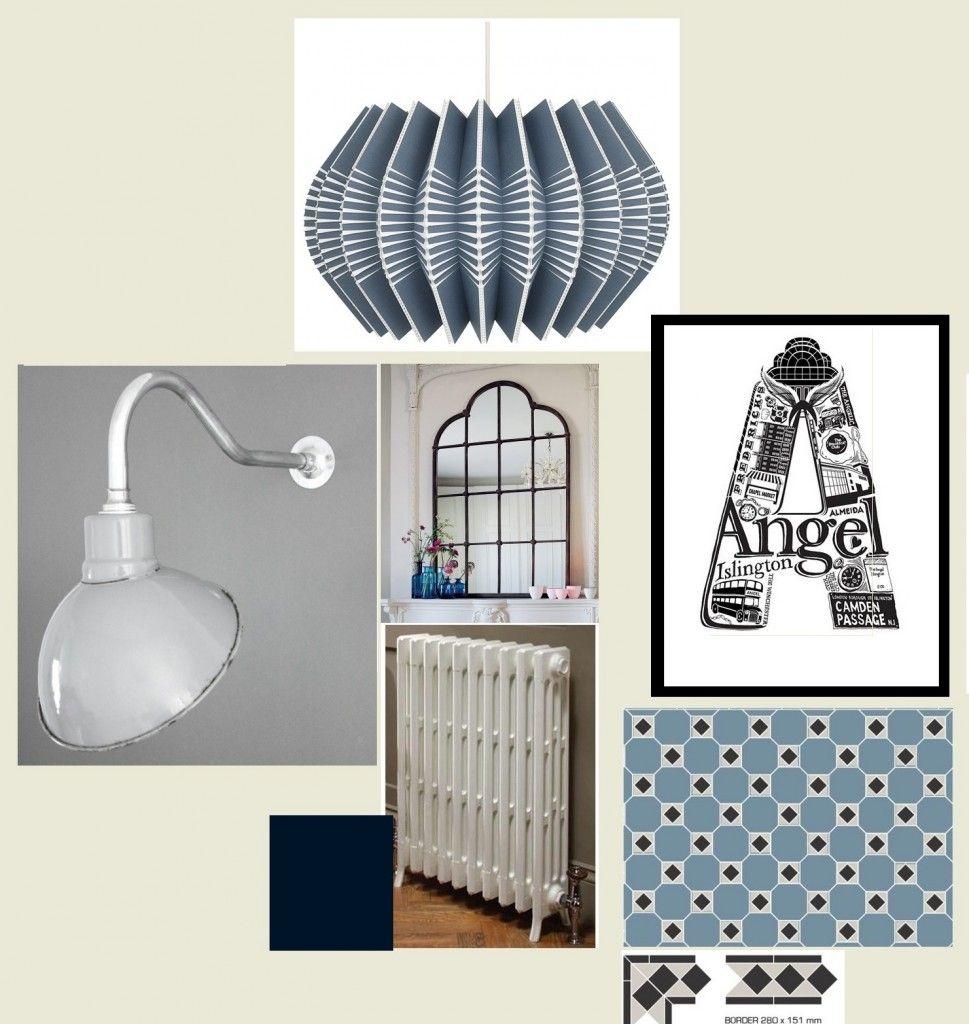 Designer hallway sample board #mood board #interior design