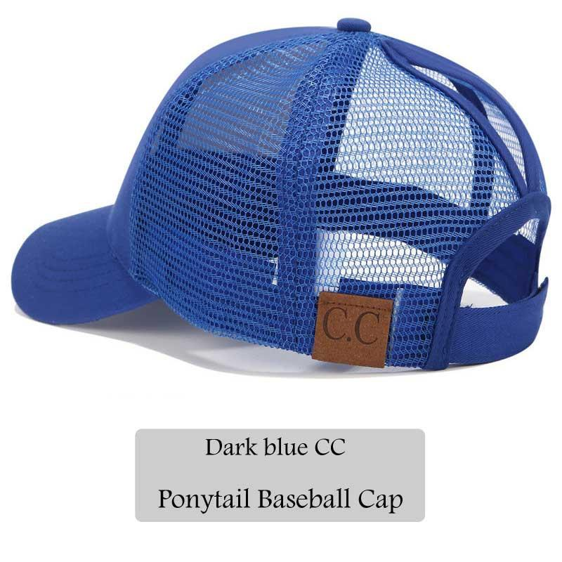 399b9cf3 2018 CC Glitter Ponytail Baseball Cap Women Snapback Hat Summer Messy Bun  Mesh Hats Casual Adjustable Sport Caps Drop Shipping