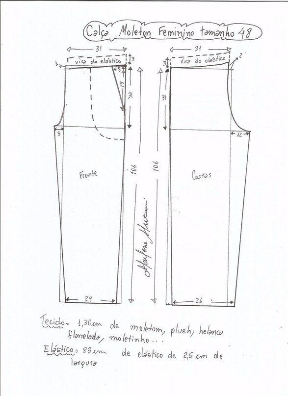 moldes-para-hacer-pants-deportivos-para-dama-9 | Patrones | Sewing ...