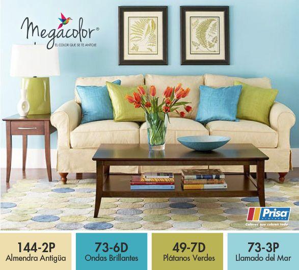 ColorEnTuInterior Combinación de #Colores frescos y cálidos para - colores calidos para salas