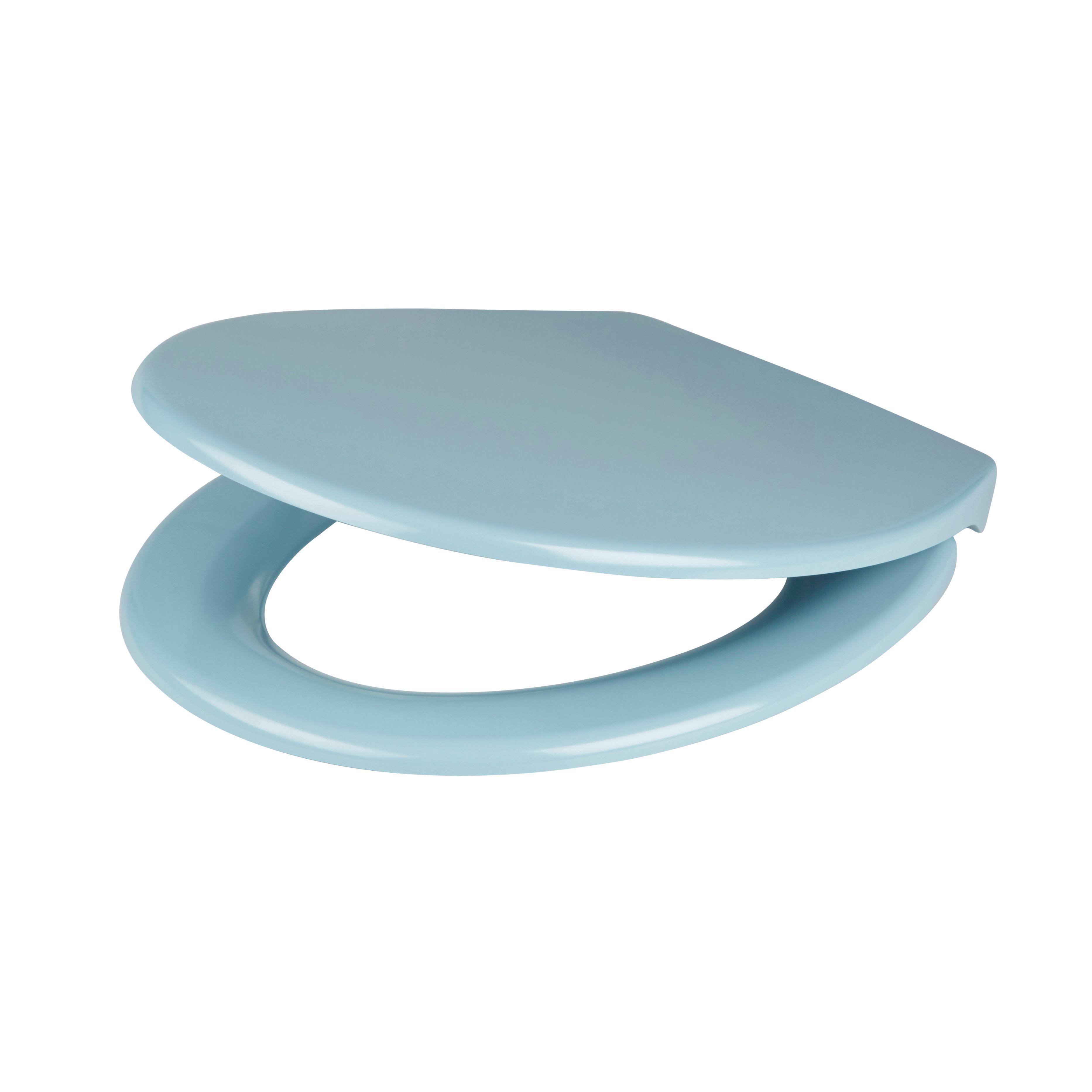 Cooke & Lewis Diani Blue Top-Fix Soft Close Toilet Seat | Rooms ...