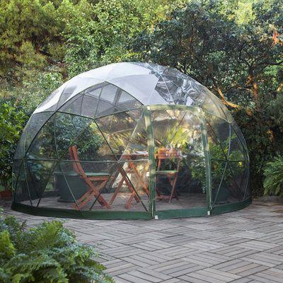 Serre géodésique, abri de jardin, véranda démontable, couverture de ...