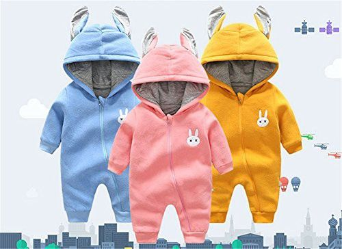 d1cf2c725 Baby Rompers Winter Thick Warm Baby Boy Cute Rabbit Long Sleeve ...