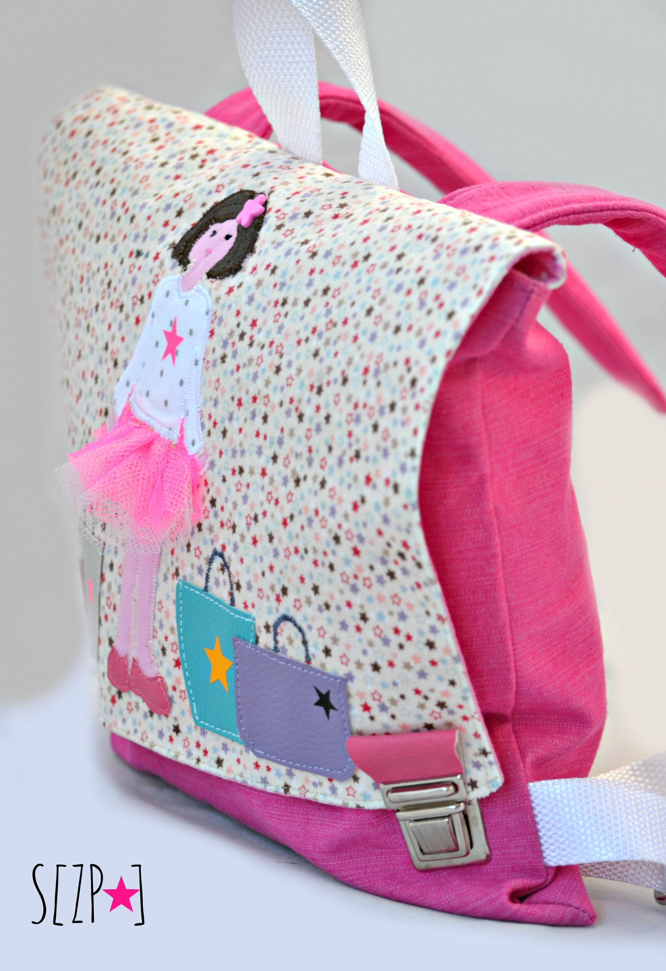 sac enfant rose cartable de maternelle la petite victime de la mode petites toiles et tote. Black Bedroom Furniture Sets. Home Design Ideas